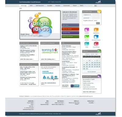 Image representing Engaging intranet bring business benefits to East Renfrewshire Council staff