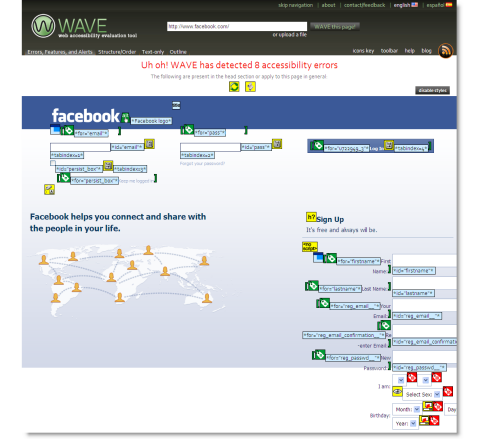 Wave accessibility on Facebook
