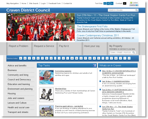 Craven District Council top tasks