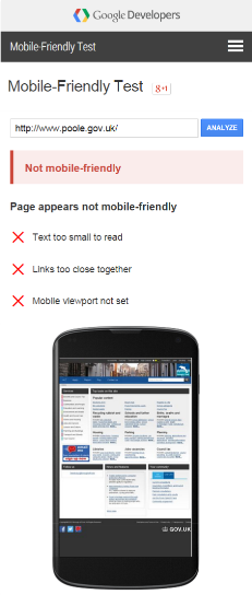 Poole_Google Mobile Friendliness
