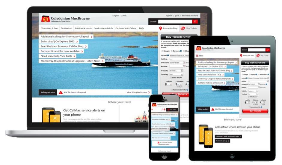 GOSS Interactive - Caledonian MacBrayne transforms web