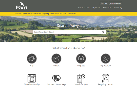 What have Powys County Council been up to with the GOSS Digital Platform?